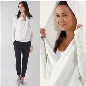 LULULEMON Iconic Oatmeal Tan Wrap Sweater L/S Top